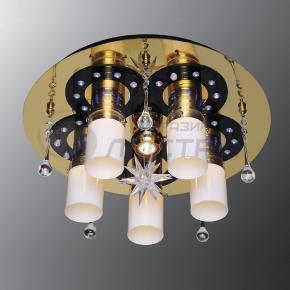 фото Потолочный светильник Г Панель 1-1158-6-FG+WH-LED Y Е27+