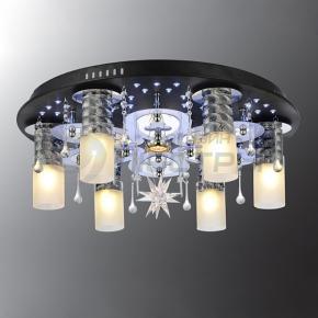 фото Потолочный светильник Г Панель 1-6611-6+1-BK+CR-LED Y Е2