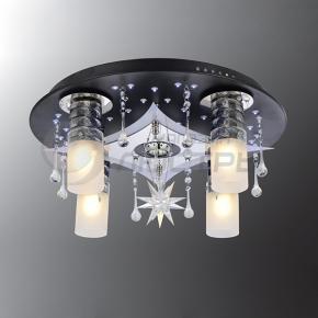 фото Потолочный светильник Г Панель 1-6615-4+1-BK+CR-LED Y Е2
