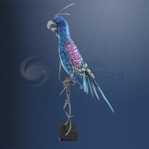 фото Декоративная уличная фигура на солнечных батареях Globo Попугай 33257