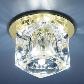фото Точечный светильник 499 GD/WH (золото/прозрачный)