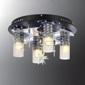фото Потолочный светильник Г Панель 1-6616-4+1-BK+CR-LED Y Е2