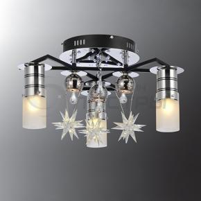 фото Потолочный светильник Г Панель 1-8001-6-BK+CR-LED Y Е27+