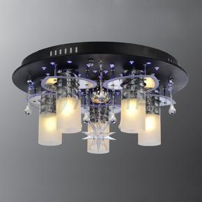 фото Потолочный светильник Г Панель 1-0812-6-BK+CR-LED Y Е27+