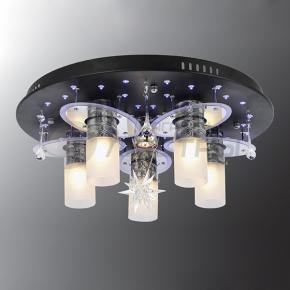 фото Потолочный светильник Г Панель 1-0813-6-BK+CR-LED Y Е27+