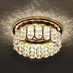 фото Точеченый светильник 7241 золото/белый