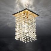 фото Точечный светильник 207 золото/прозрачный