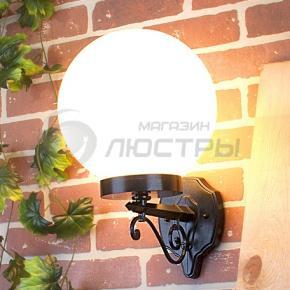 фото Светильник уличный настенный 1301 черный