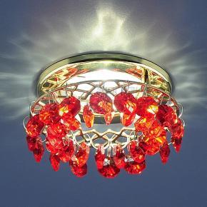фото Точечный светильник 7070 GD/R (золото/красный)