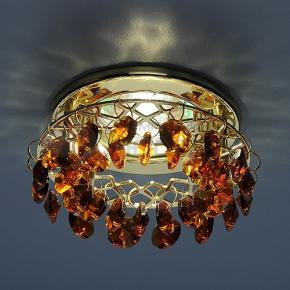 фото Точечный светильник 7070 GD/BROWN (золото/янтарь)