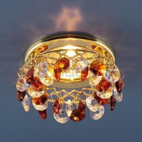 фото Точечный светильник 7070 GD/T/WH (золото/янтарь/прозрачный)