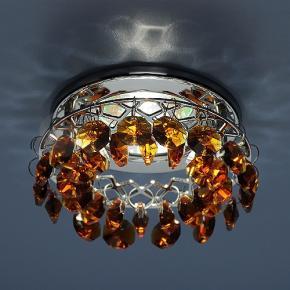 фото Точечный светильник 7070 CH/BROWN (хром/янтарь)