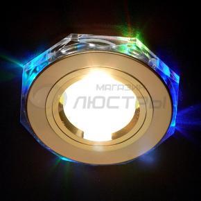 фото Точечный светильник 2020/2 GD/7-LED (золото/мультиподсветка)