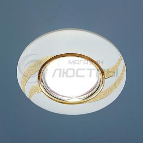 фото Точечный светильник 8012A PS/G (перламутр. серебро / золото)