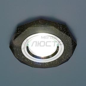 фото Точечный светильник 8020 BK SL (черный/хром)