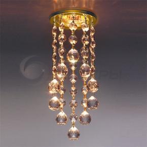 фото Точечный светильник с хрусталем 205C-C G/GD (золото/тонированный)