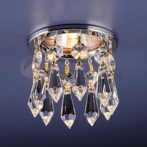 фото Точечный светильник с хрусталем 2056 CH/WH (хром/прозрачный)