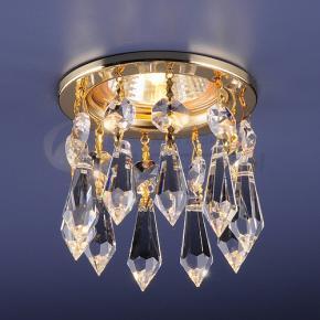 фото Точечный светильник с хрусталем 2056 GD/WH (золото/прозрачный)