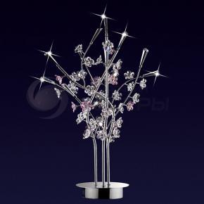фото Настольная лампа хрустальная  Sakura 1802/3T