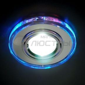 фото Точечный светильник 2030/2  CH/BL/LED (хром / синий)