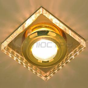 фото Точечный светильник 1058 Clear/GD (зеркальный/золото)