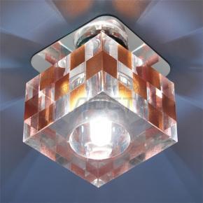 фото Точечный светильник 8243 G9 CH/BR (хром/янтарь)