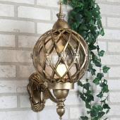 фото Уличный светильник настенный Sirius U черное золото