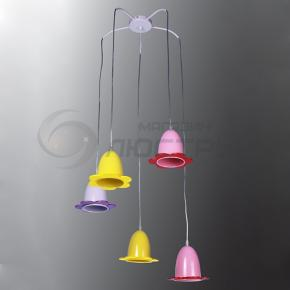 фото Подвесной светильник Н Детство 2-6455-5-COLOR E27