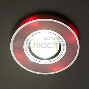 фото Точечный светильник 2070/2 PK/SL/RED (роз./хром/красный)